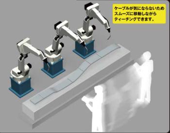 ティーチング ロボット操作イメージ画像