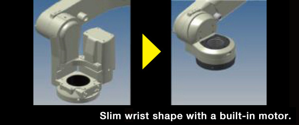Slim wrist shape with a built-in motor.
