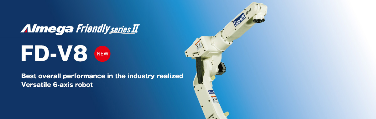 AImega Frendly series FD-V8 A versatile robot that accommodates all types of applications.